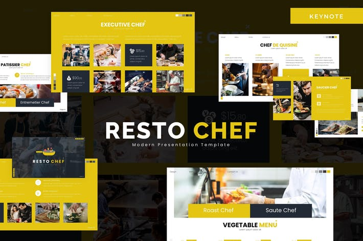 Thumbnail for Resto Chef - Keynote Template