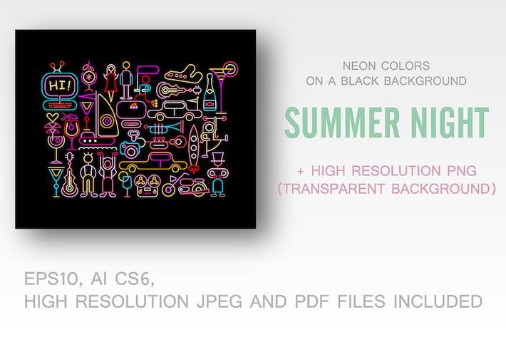 Thumbnail for Summer Night vector illustrations