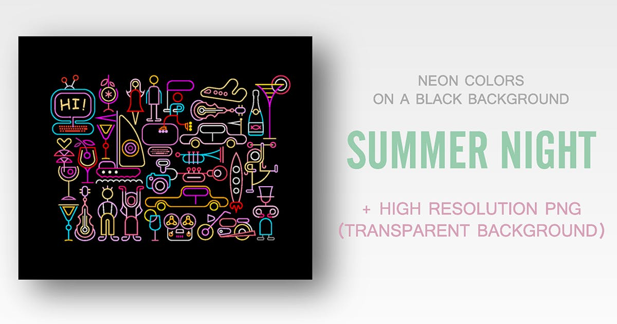 Download Summer Night vector illustrations by danjazzia