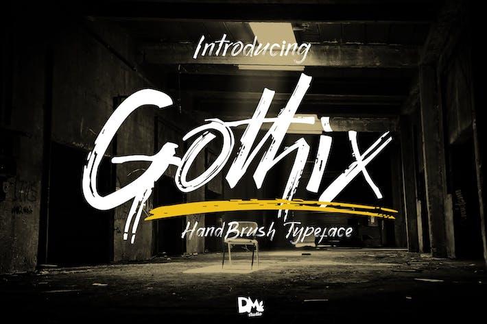 Gothix - Brocha de mano Typeface
