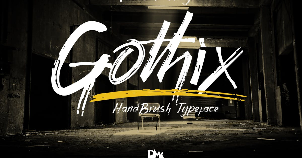 Download Gothix - Hand Brush Typeface by DmLetter