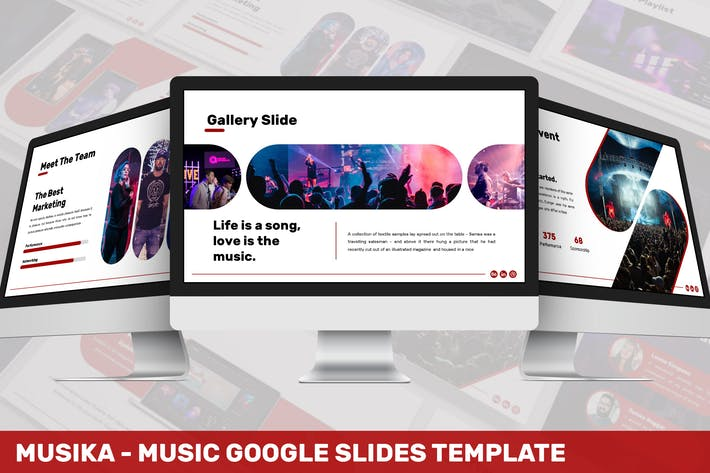 Thumbnail for Musika - Music Google Slides Template