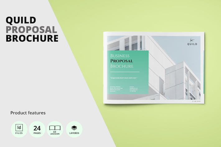 Architecture A4 Landscape Proposal Brochure