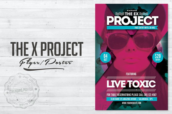 Thumbnail for The Project X Flyer Poster