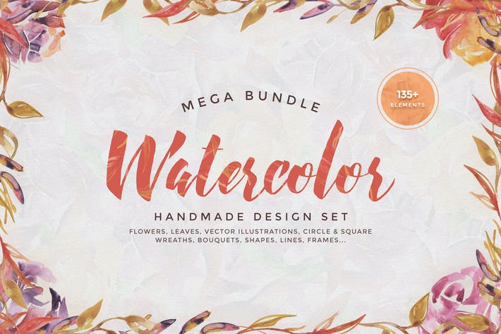 Thumbnail for Watercolor Handmade Design Bundle