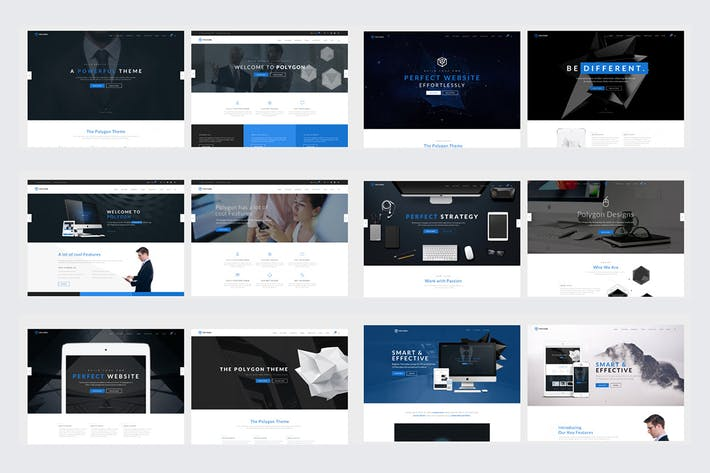 Cover Image For Polygon - Multipurpose HTML5 Website Template