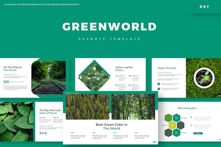 Thumbnail for Green World - Keynote Template