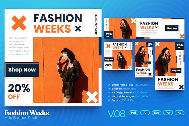 Banner Pack Vol.08 Fashion Week