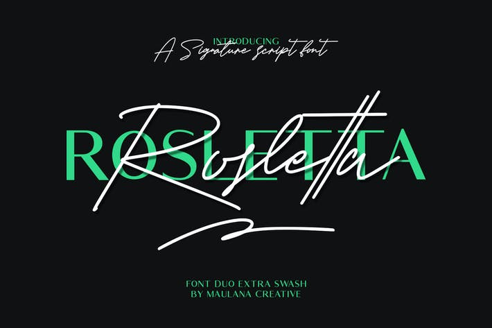 Thumbnail for Rosletta Signature Font Duo Extra Swash