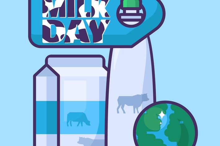 Thumbnail for World Milk Day Illustration