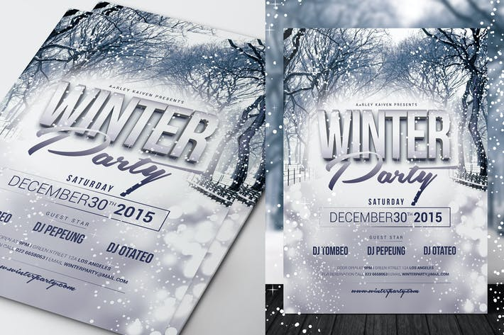 Thumbnail for Winter Event Flyer / Invitation