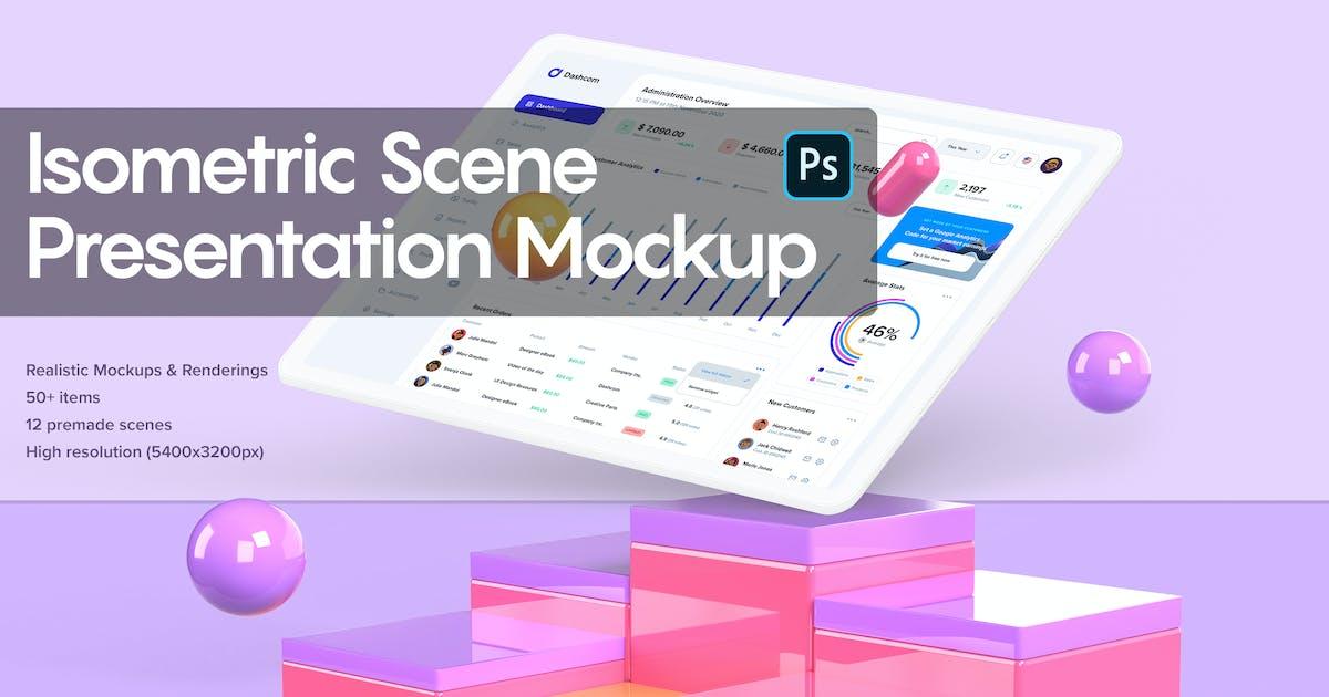 Download Isometric Scene Presentation Mockup by KL-Webmedia