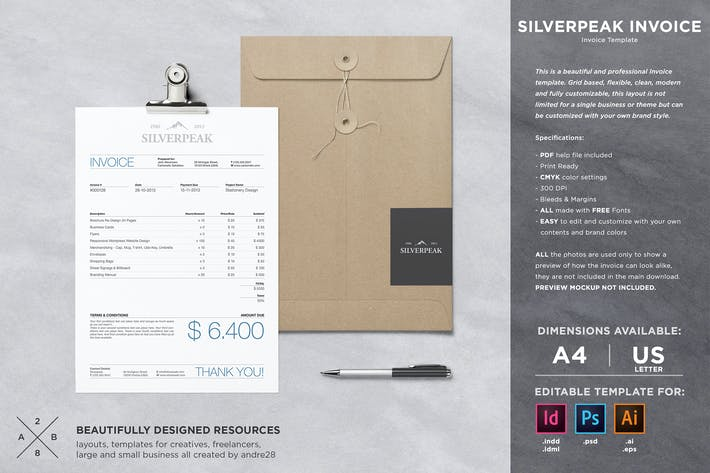 Thumbnail for Silverpeak Invoice Template