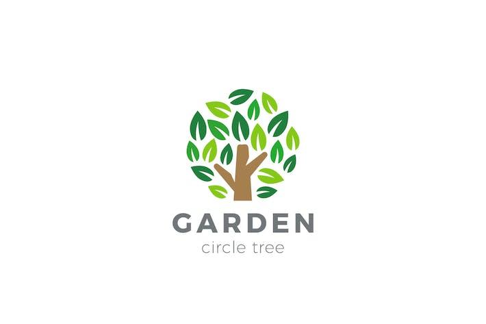 Thumbnail for Logo Arbre de jardin en forme de cercle