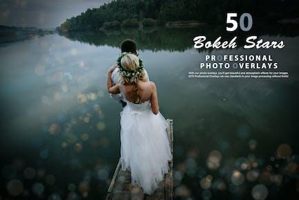 50 Bokeh Stars Photo Overlays