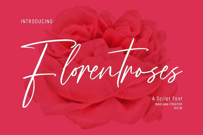 Florentroses Signature Font