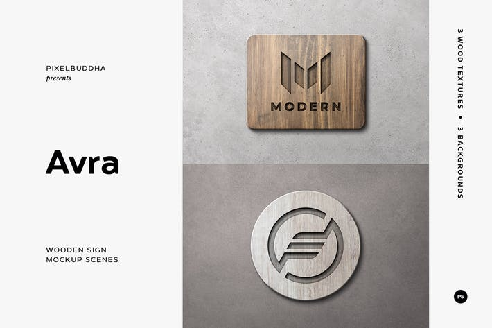 Thumbnail for Wooden Sign Mockup Scenes