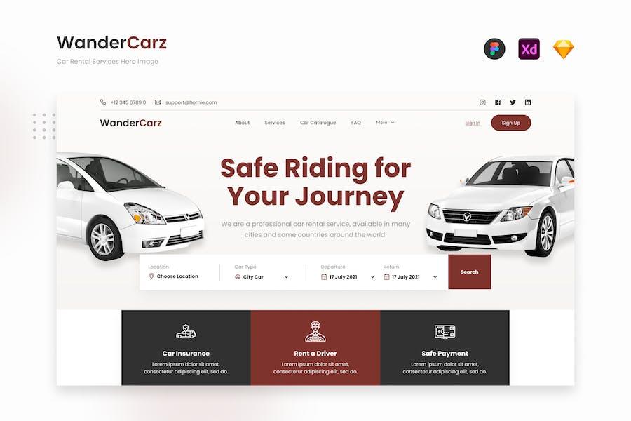 WanderCarz - Car Rental Services Website Landing