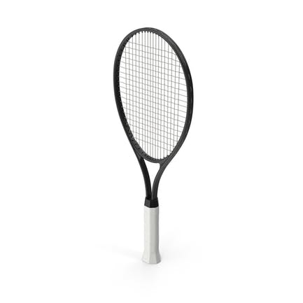Теннисная ракетка черная