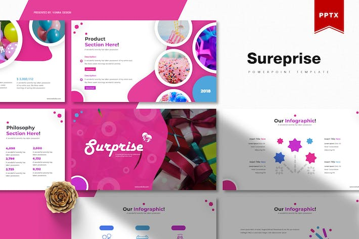 Thumbnail for Sureprise | Powerpoint Template