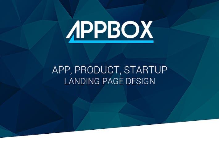 Thumbnail for AppBox - App Landing PSD Theme