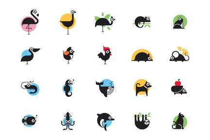 Jeu d'icônes Animal