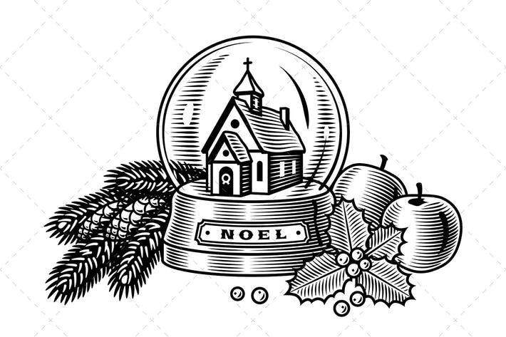 Thumbnail for Vintage Christmas Still Life Black And White