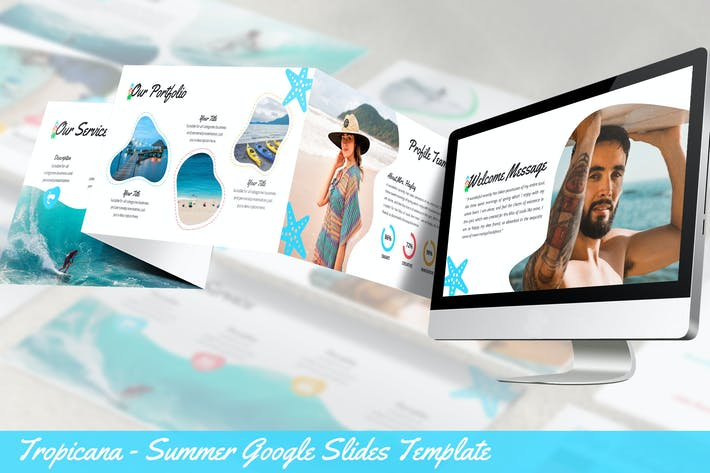 Thumbnail for Tropicana - Summer Google Slides Template