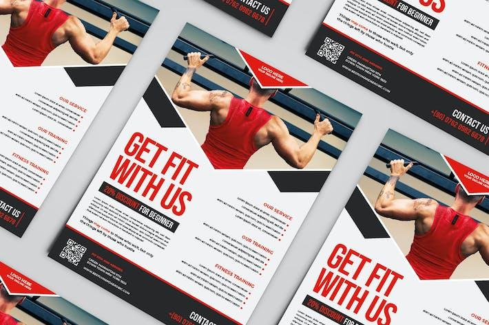 Muskels gym Flyer Vorlage