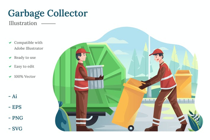 Garbage Collector Illustration