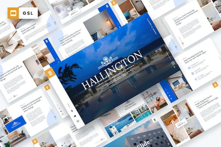 Thumbnail for Hallington - Luxury Hotel Google Slides Template