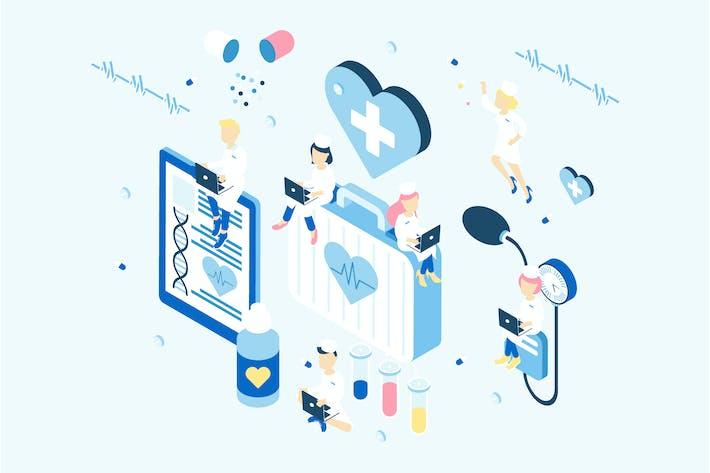 Thumbnail for Medicine Isometric Illustration