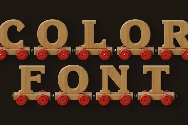 Wooden Train - Color SVG Font