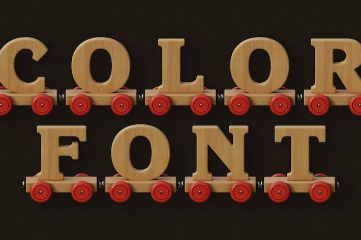 Wooden Train - Color SVG Font