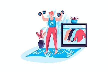 Concepto de entrenamiento físico