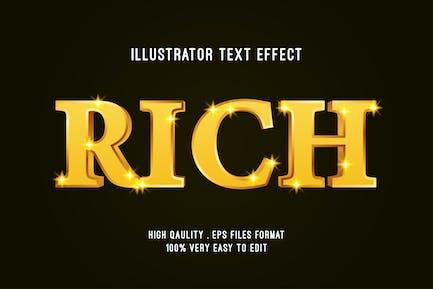 rich gold text effect