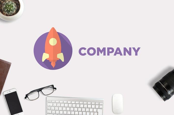 Thumbnail for Flat Rocket Logo