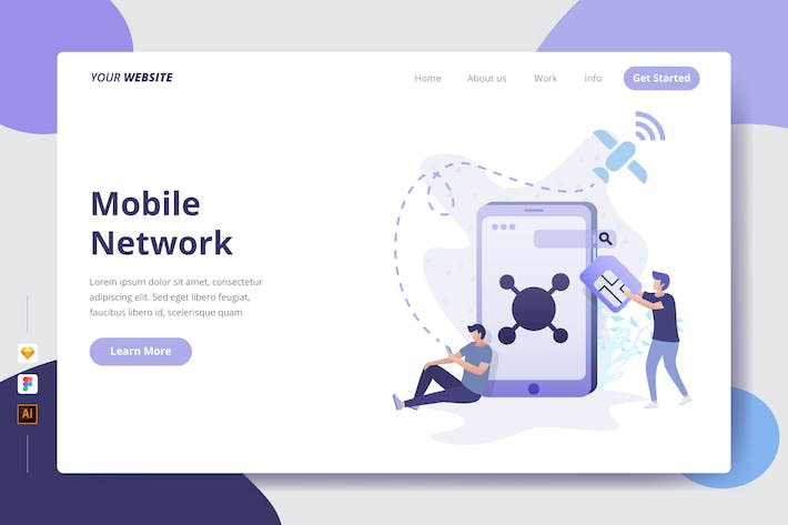 Thumbnail for Mobile Network - Landing Page
