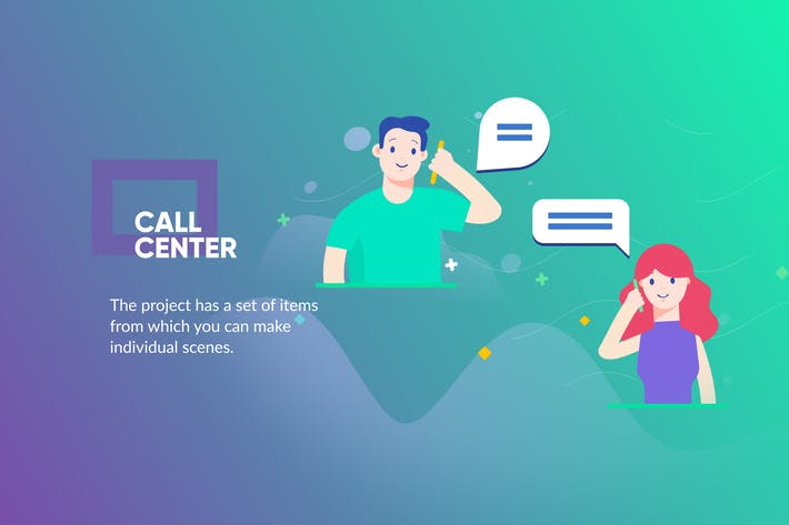 Thumbnail for Call Center Banner & Landing Page