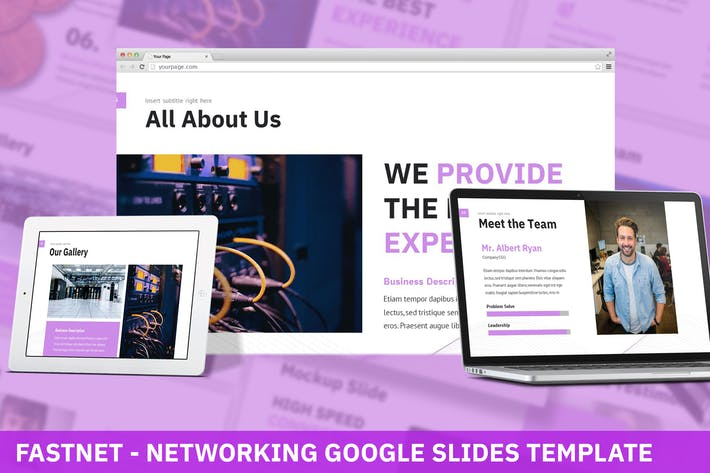 Thumbnail for Fastnet - Networking Google Slides Template