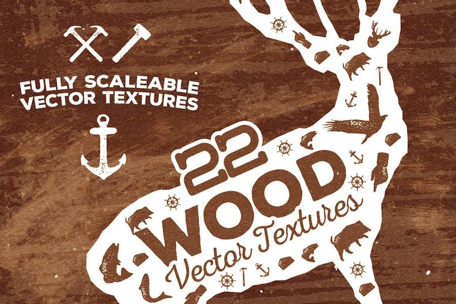 22 Wood Vector Textures