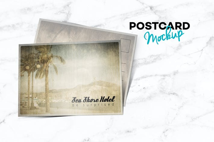 Thumbnail for Postcard Landscape Mockup