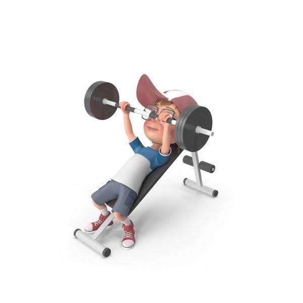Thumbnail for Cartoon Boy Harry Lifting Barbell