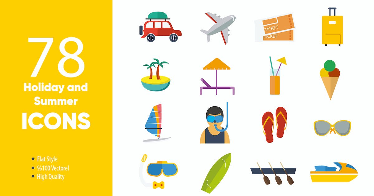 Download Holiday and Summer Icons by M0DE0N