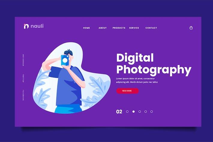 Thumbnail for Цифровая фотография Web Header PSD и Вектор AI