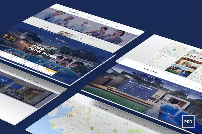 Thumbnail for RealHome - Versatile Real Estate PSD Template