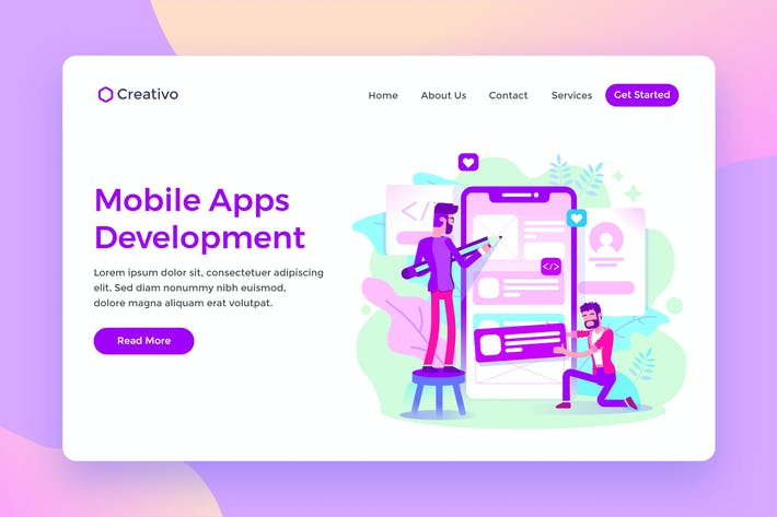Thumbnail for Mobile Apps Development Creative Team Landing Page