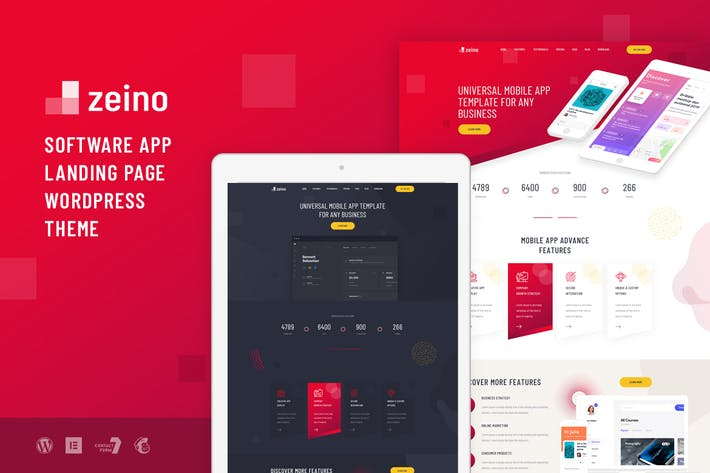 Thumbnail for Zeino - App Landing WordPress Theme