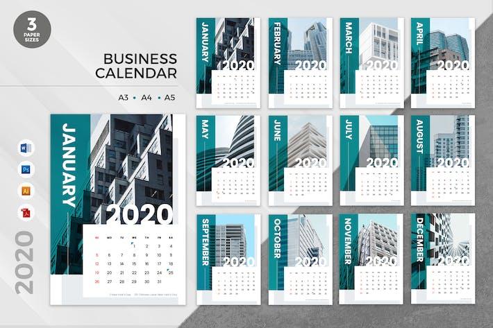 Thumbnail for Corporate Business 2020 Calendar - AI, DOC, PSD