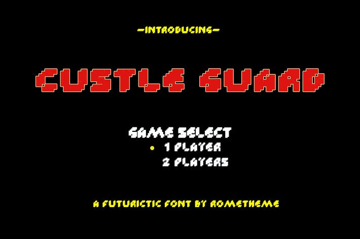 Thumbnail for Custle Guard - Retro Bitmap Typeface DR